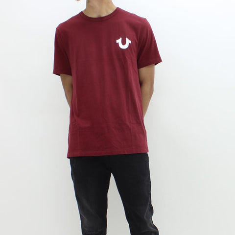 True Religion Core Metallic SS Crew Tee Burgundy