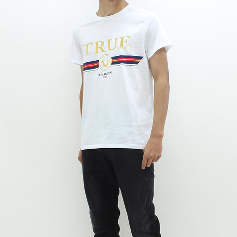 True Religion True Stripe Tee White