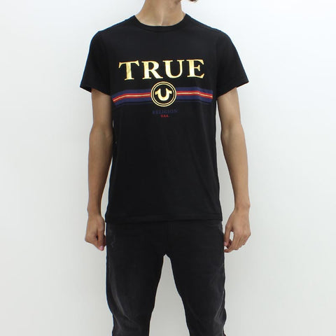 True Religion True Stripe Tee Black