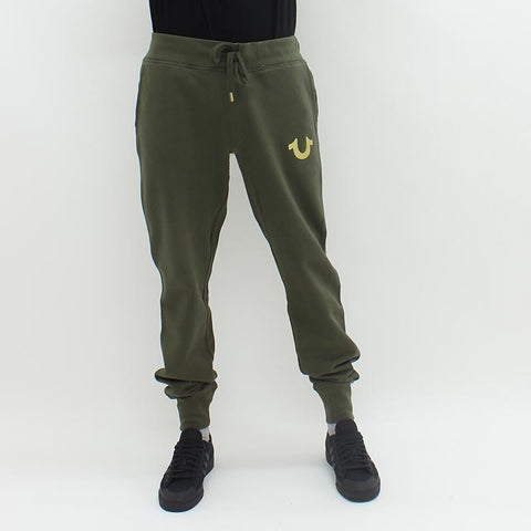 True Religion Metallic Sweatpant Green