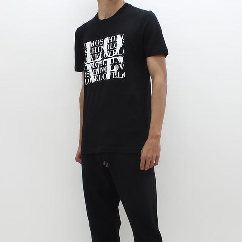 Love Moschino Rubber Love Logo Tee Black - Pilot Netclothing