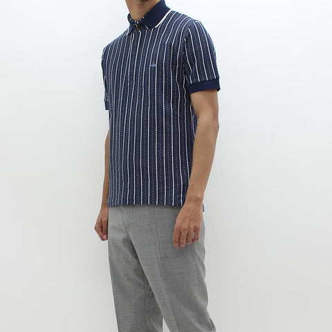Vivienne Westwood Stripe Down Polo Navy
