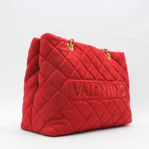 Valentino Arrival Quilt Chain Handle Bag Red
