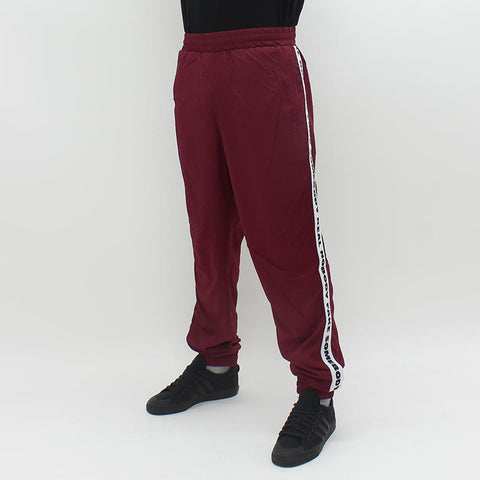 Wood Wood Robby Track Bottoms Burgundy