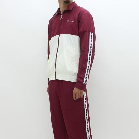 Wood Wood Robby Track Top Burgundy