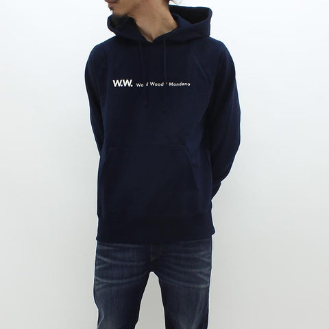 Wood Wood Raffi Hooded Sweat Navy