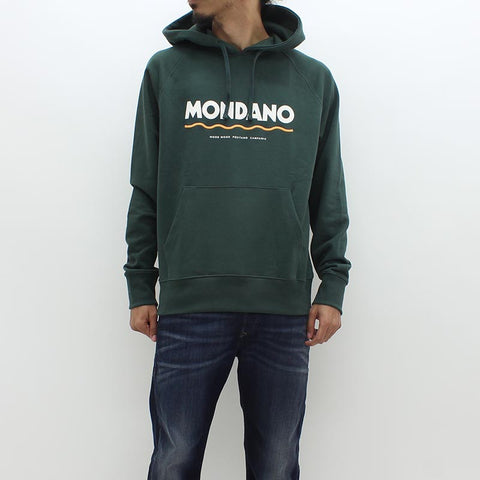 Wood Wood Mondano Hooded Sweat Green