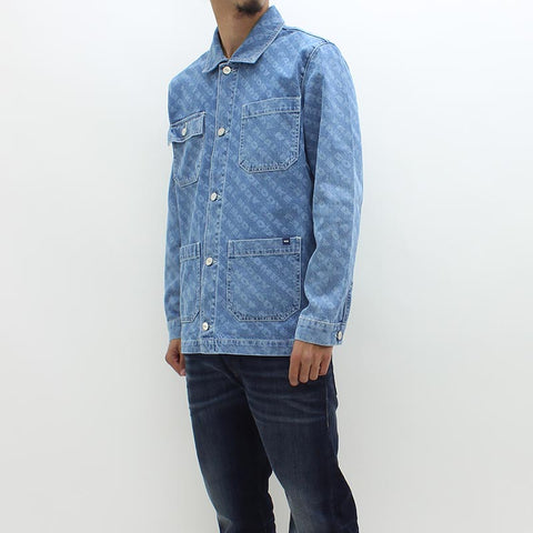 Wood Wood Ludo Vintage Denim Jacket Blue - Pilot Netclothing