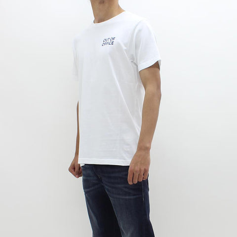 Wood Wood Out Of Office Tee White - Pilot Netclothing