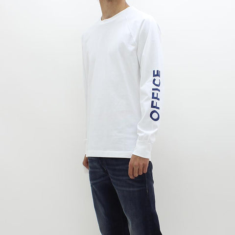 Wood Wood LS Out Of Office Tee White - Pilot Netclothing