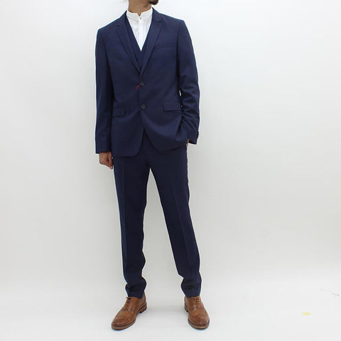 Hugo By Hugo Wilms Heten 3 Piece Suit Navy - Pilot Netclothing