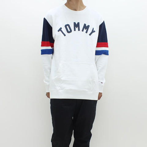Tommy Hilfiger Colorblock Crew Sweat White - Pilot Netclothing