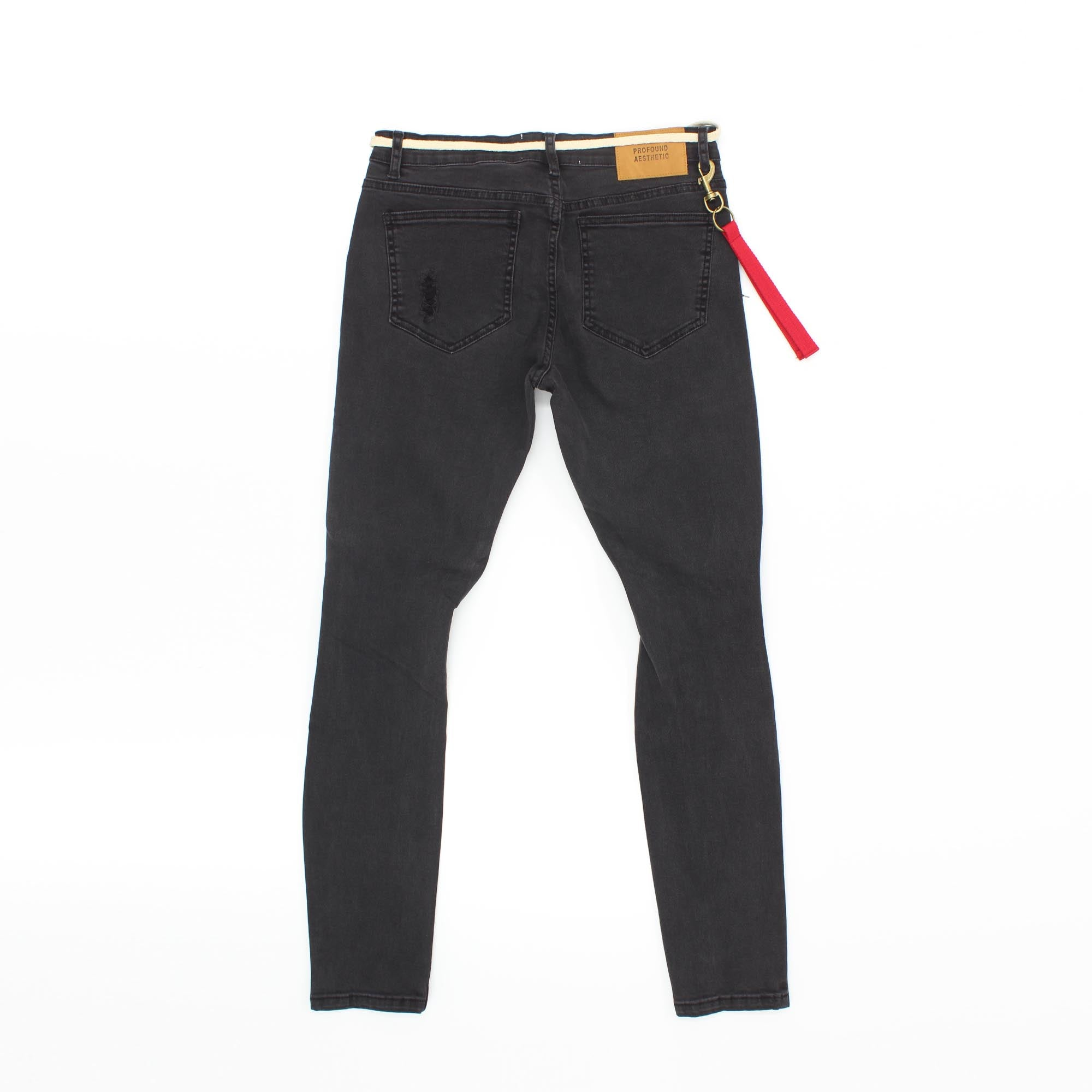 Profound Aesthetic Washed Destroyed Jeans Black