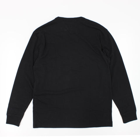 Tommy Jeans Embroidered Logo Long Sleeve T-Shirt Black