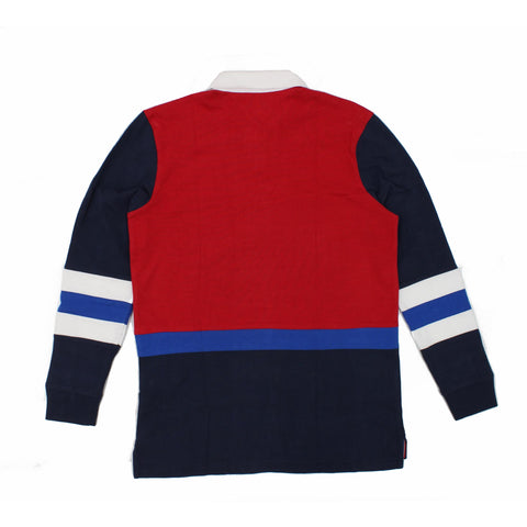 Tommy Jeans Retro Rugby Shirt Red