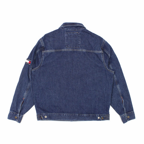 Tommy Jeans Over Sized Trucker Jacket Blue