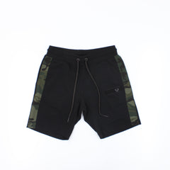 True Religion Camo Shorts Black