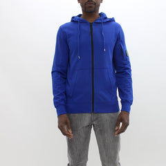 CP Company Open Hooded Sweat Shirt Blue