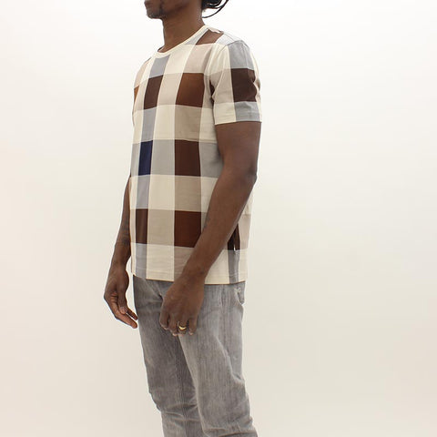 Aquascutum Large Check T Shirt Brown