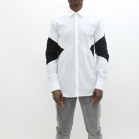 Neil Barrett Biker Abstract Shirt White