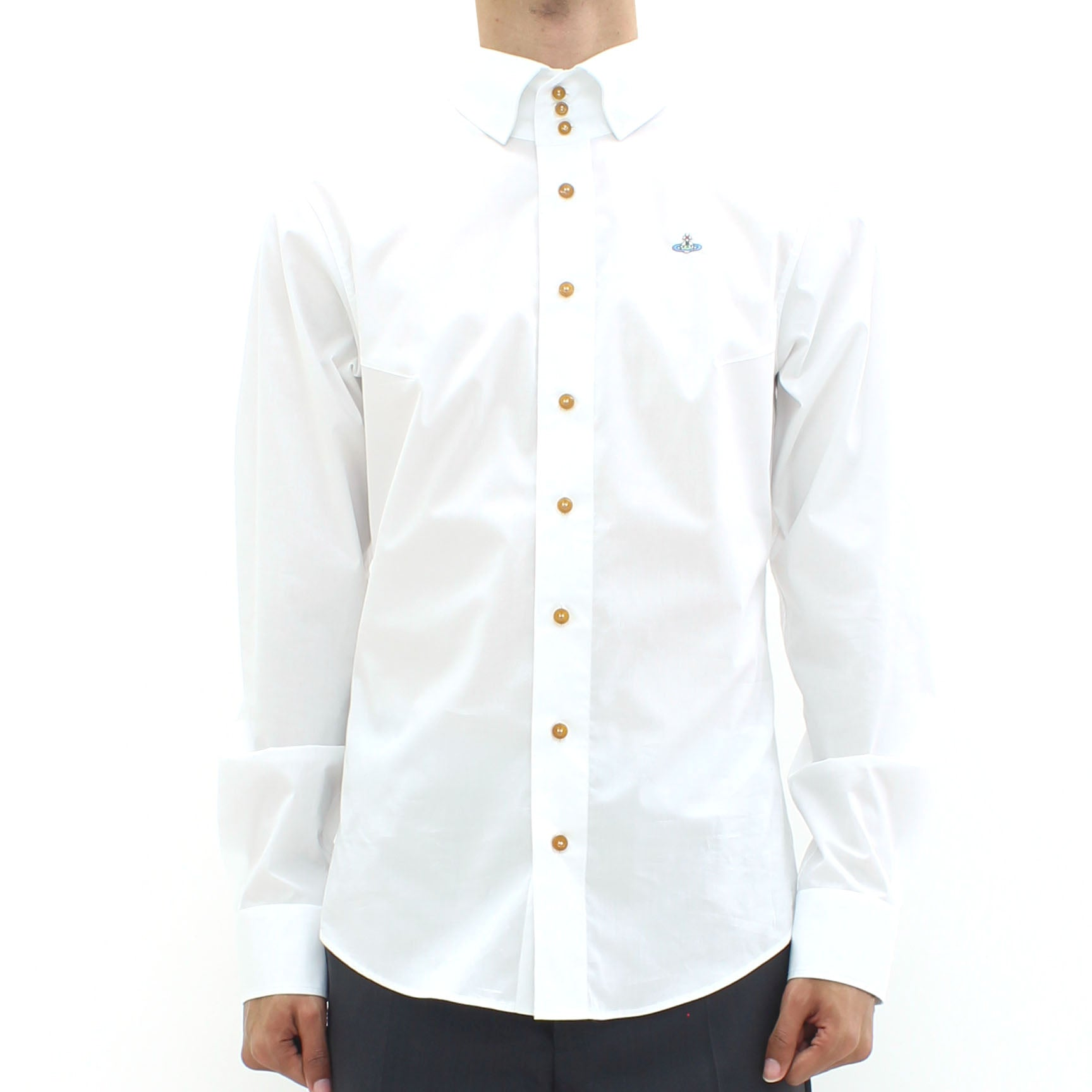 Vivienne Westwood Classic Stretch Popeline Krall Shirt White