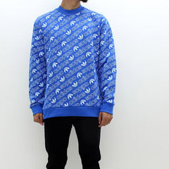 Adidas Originals AoP Crew Sweat Blue