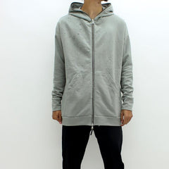 Adyn Distressed Shot Hooded Sweatshirt Grey