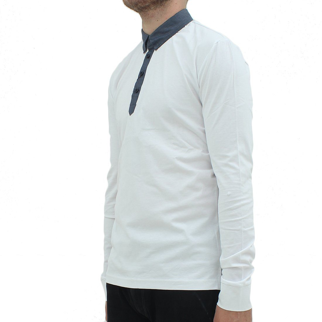 Antony Morato LS White Polo Shirt