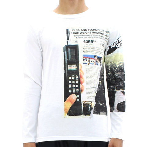 Mens - Blood Brother Mobile Mass LS Tee White