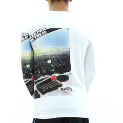 Blood Brother Mobile Mass LS Tee White