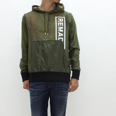 Christopher Raeburn Remade Parachute Hooded Jacket Khaki Green