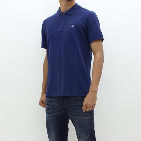 Mens - CP Company Square CP SS Polo Navy