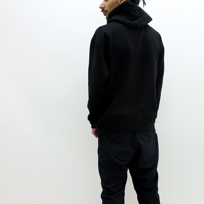 Dark Circle Logo Hooded Sweat Black