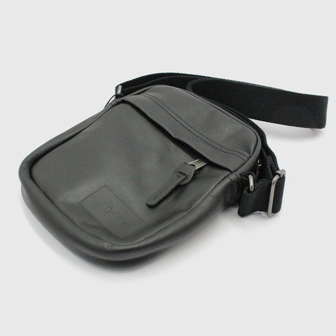 Mens - Eastpak The One Leather Bag Black