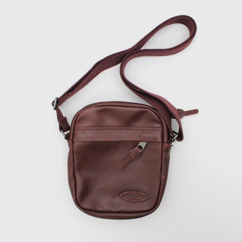 Mens - Eastpak The One Leather Bag Burgundy