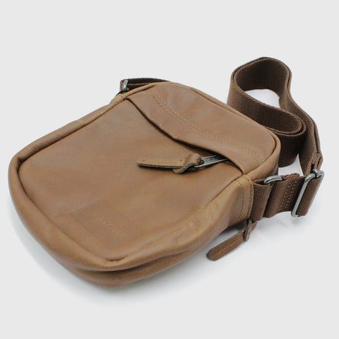 Mens - Eastpak The One Leather Bag Tan