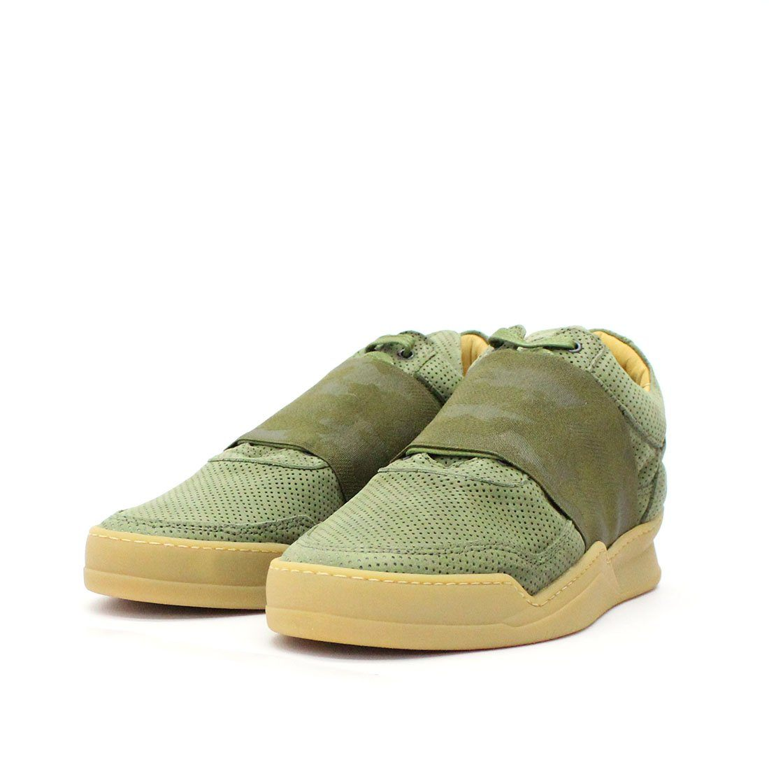 Filling Pieces Low Top Perforated Elastic Green