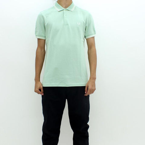 Mens - Fred Perry Twin Tipped Polo Mint