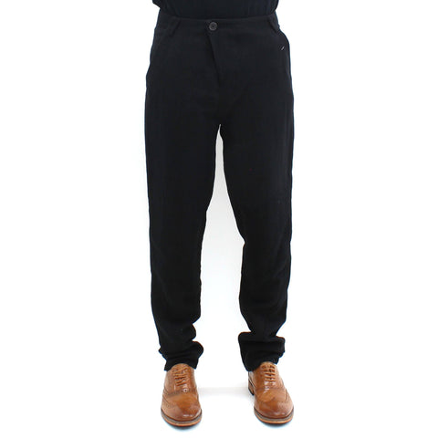 Mens - Hannibal Crushed Cotton Trouser Black