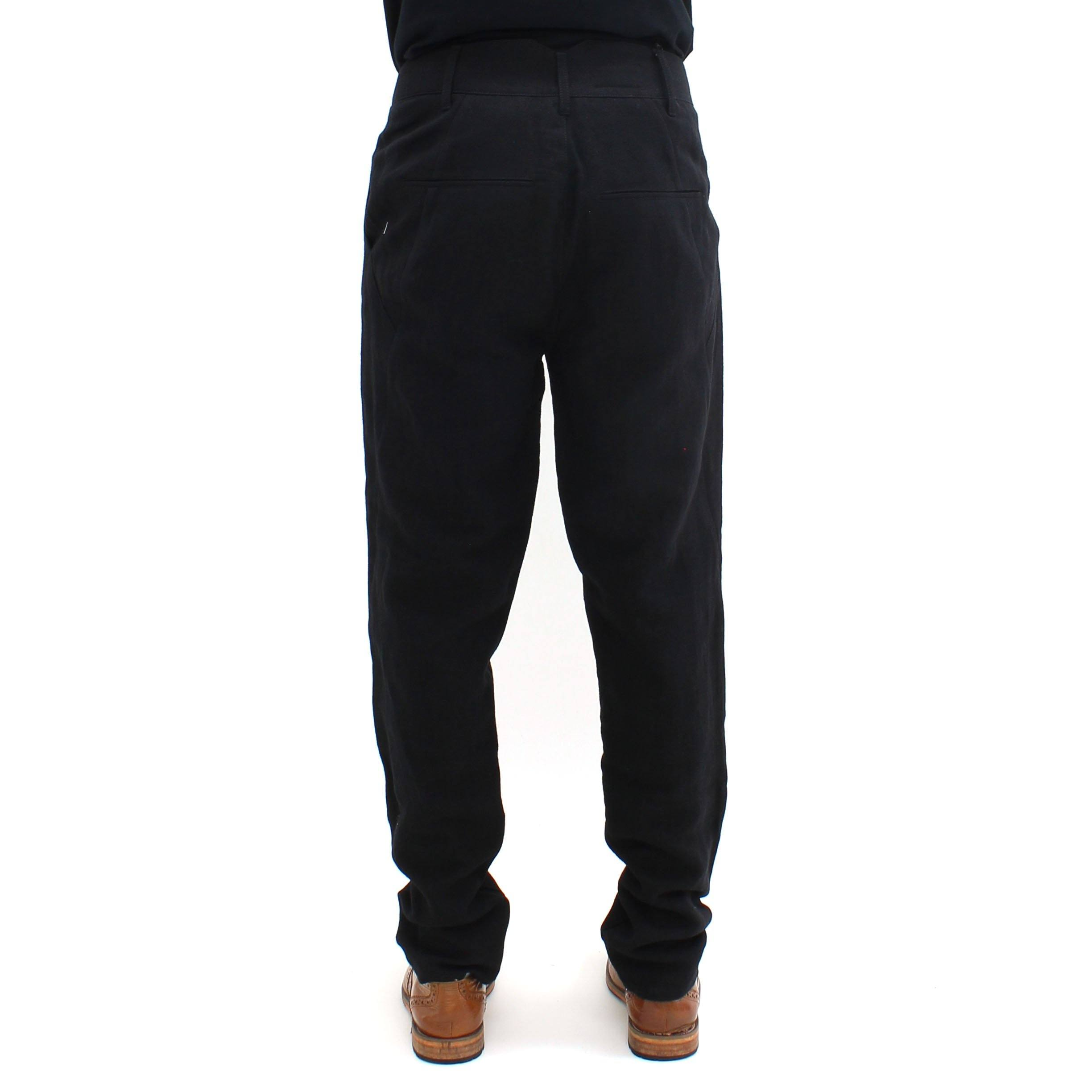 Hannibal Crushed Cotton Trouser Black