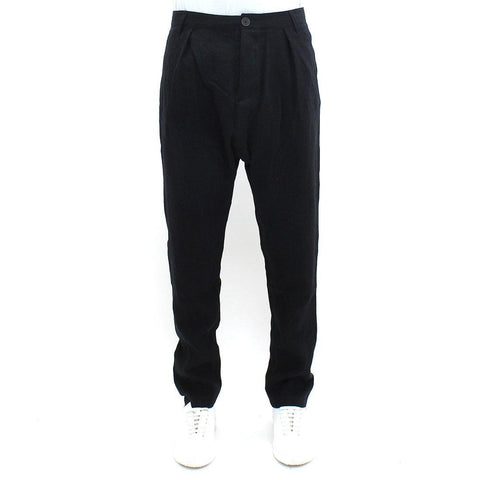 Mens - Hannibal Drop Linen Mix Trouser Black