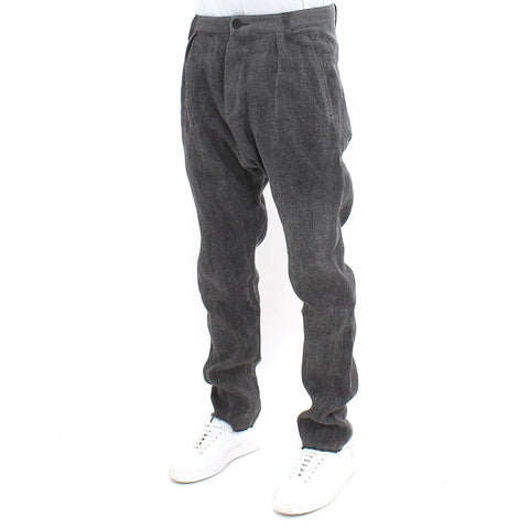 Mens - Hannibal Drop Linen Mix Trouser Grey