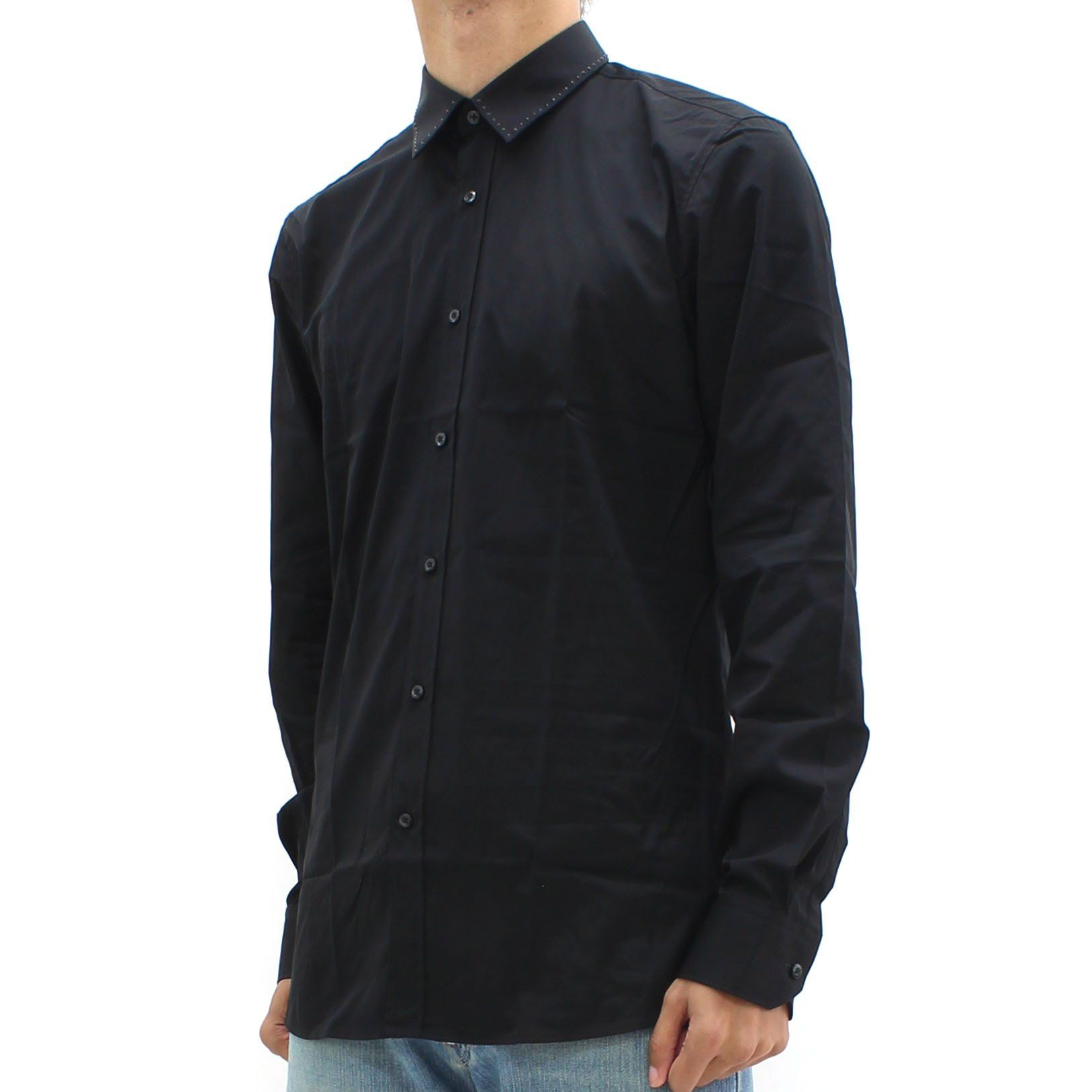 Hugo By Hugo Boss Elisha Stud Collar Shirt Black
