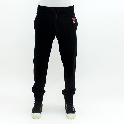 Mens - Love Moschino Embroidered Peace Logo Sweatpants Black
