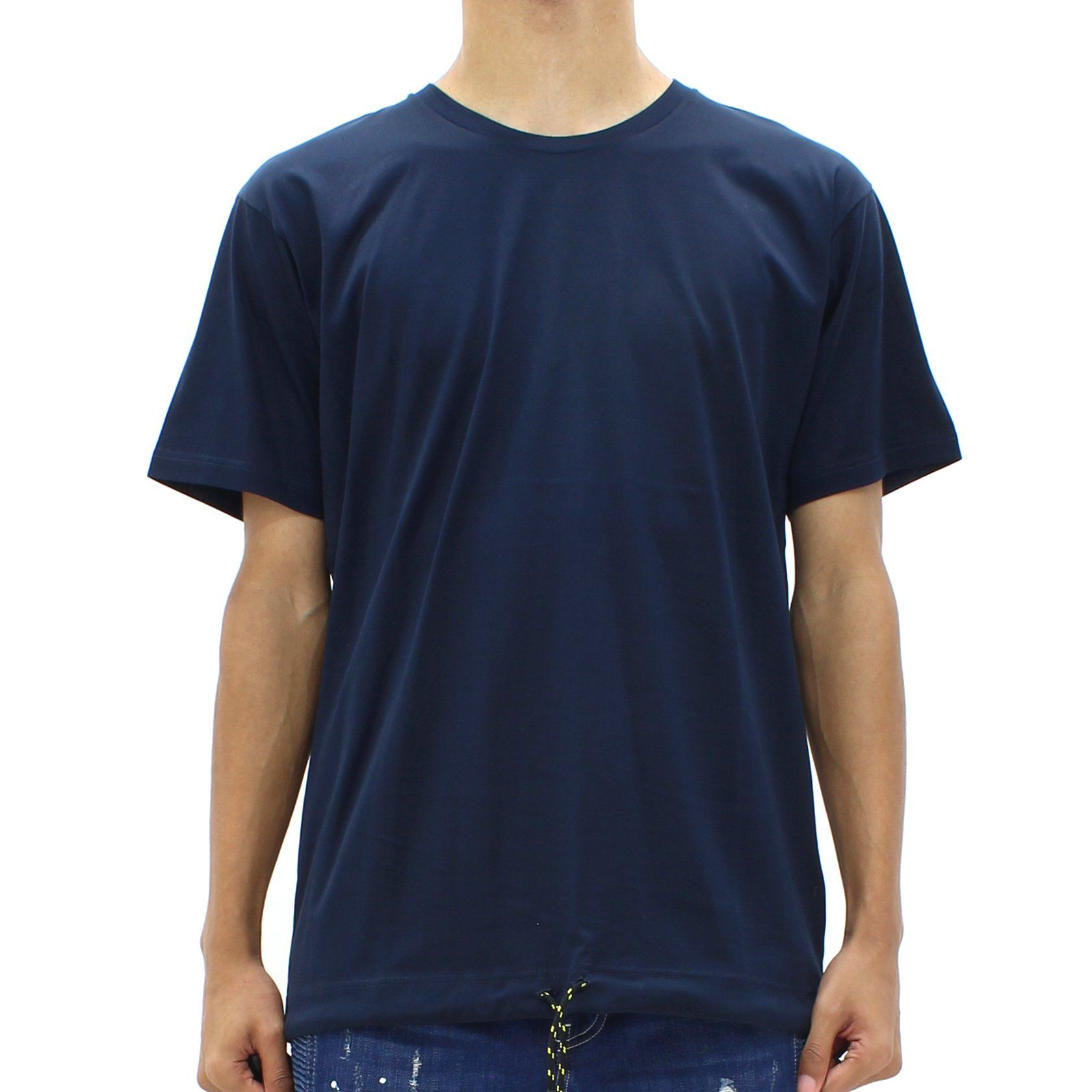 Low Brand Draw String Tee Blue
