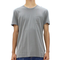 Low Brand Half Pocket Tee Charcoal