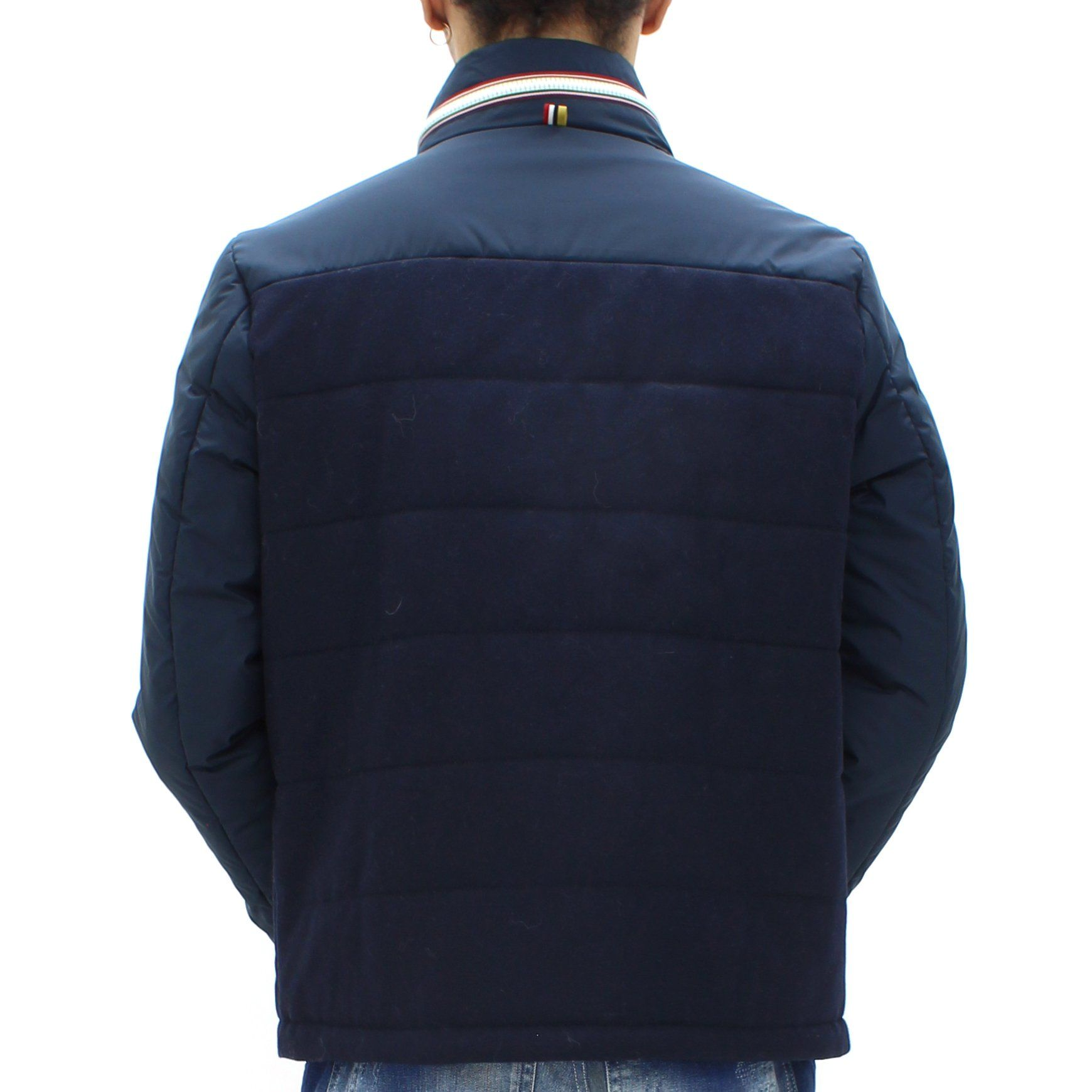 Low Brand Mixed Panelled Jacket Navy