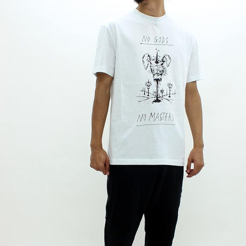 Mens - McQ By Alexander McQueen Large Bunny Graphic Tee White