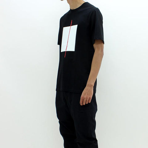 Mens - Neil Barrett Abstract Block Tee Black