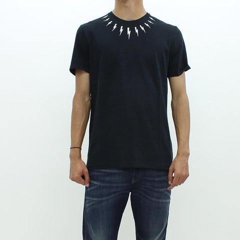 Mens - Neil Barrett Bolt Round Neck Tee Black